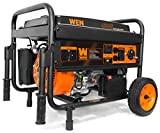 WEN 56475 4750-Watt Portable Generator with Electric Start and Wheel...