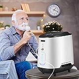 S SMAUTOP Concentrador de oxígeno, máquina de oxígeno portátil ajustable de 1-7 l/min para uso doméstico y de viaje