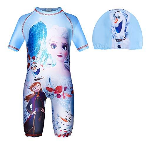 LQSZ - Bañador para niña con Gorro de natación y protección UV...