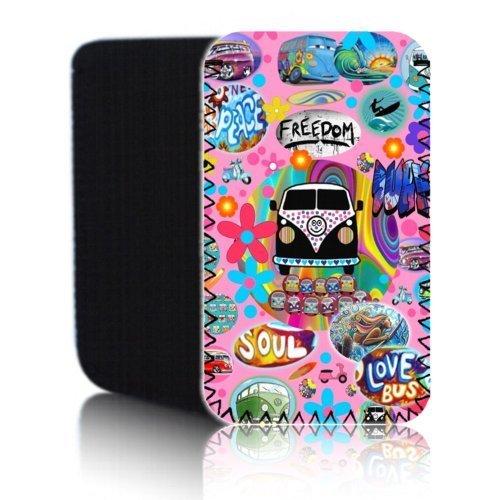 'Biz-E-Bee Pink Retro Campervan' (N2) Schutztasche aus Neopren für Blackberry Leap–Stoßfest und wasserabweisend Abdeckung, Hülle, Tasche,–Schnell Schiff UK