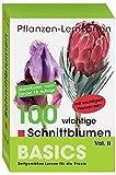 Pflanzen-Lernkarten: Die 100 wichtigsten Schnittblumen Vol. II: 100 Lernkarten mit Lernkartenbox - Karl-Michael Haake