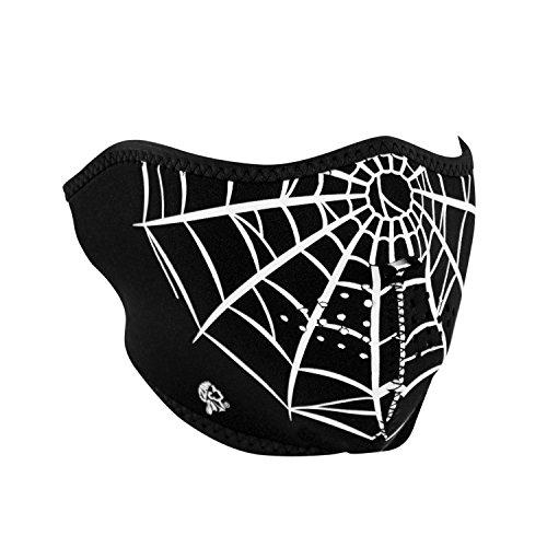 Zanheadgear WNFM055H Neoprene Half Face Mask, Spider Web
