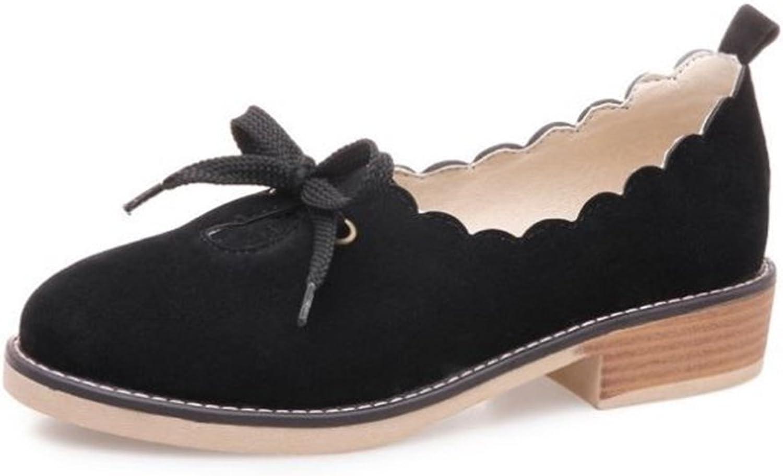 Eleganceoo Women's Fashion Retro Flat Heel Shallow Mouth Casual shoes Flat shoes