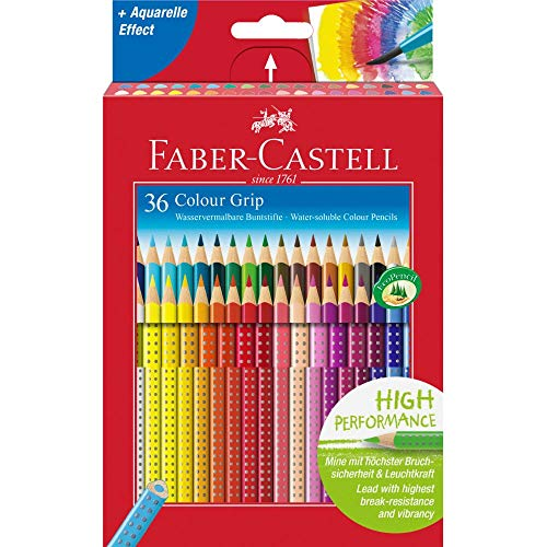 Faber-Castell 112442 - Buntstift Colour Grip, 36er Kartonetui