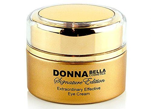 Donna Bella Caviar Signature Crème contour des yeux extraordinaire efficace – 50 ml – Diminue instantanément l'apparence des cernes sous les yeux