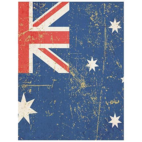 Vintage Diamantmalerei Australische Flagge Diy Diamantmalerei Kit Drill Diamantmalerei Malen nach Zahlen Kunsthandwerk für Hauptwanddekor