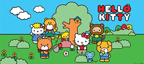 AG Design FTG 0935 Hello Kitty, Papier Fototapete Kinderzimmer - 202x90 cm - 1 Teil, Papier, multicolor, 0,1 x 202 x 90 cm
