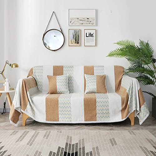 Zxb-shop Cubiertas De Sofá para Sala De Estar Perro Couch Protector,Pensar Cubierta del Sofá Lanzar Manta,Cubiertas De Couch para Cushion Couch,Cubiertas Seccionales para El Couch-Marrón. 180 * 260cm