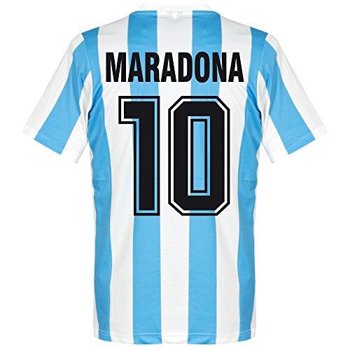 Le Coq Sportif 1986 Argentinien Home Retro Trikot + Maradona 10 - L