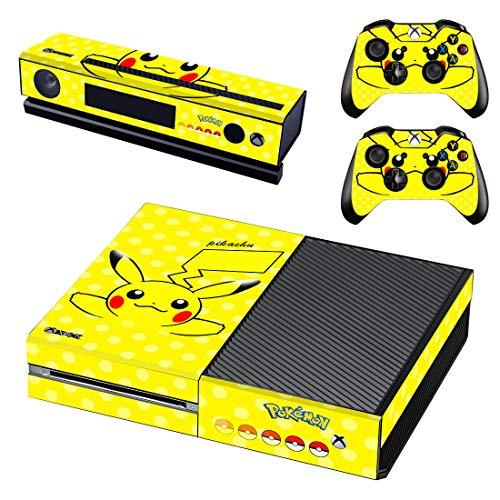 Adventure Games - XBOX ONE ORIGINAL - Pokemon, Pikachu - Playstation 4 Vinyl Console Skin Decal Sticker + 2 Controller Skins Set