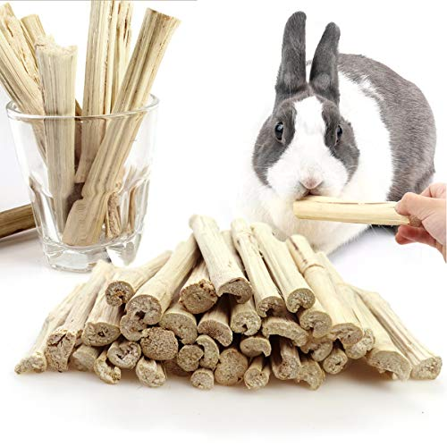 Heatoe 1 Ib Pet Molar Sweet Bamboo Snacks, Pet Chewing Toys Molar Sticks for Rabbits & Chinchillas & Guinea Pigs & Chinchillas & Hamsters & Squirrels and Other Small Animals.
