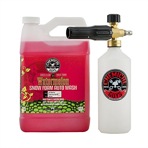 Chemical Guys EQP344 TORQ Foam Cannon Snow Foamer & Watermelon Snow Foam Auto Wash (128 fl oz.), 1...