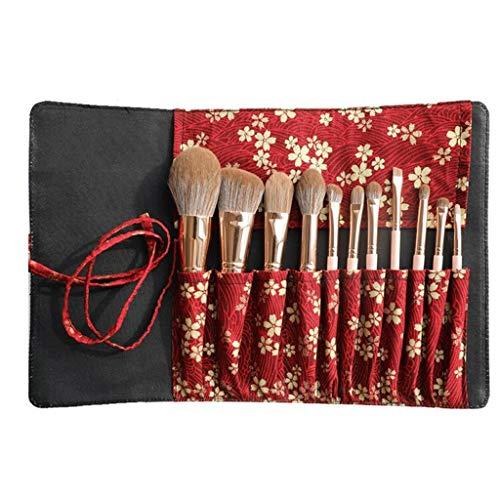 Professional Makeup Brush Set Eyeshadow Eyeliner Blending Crease Kit - Best Choice 11pcs Essential Makeup Brushes with Storage Bag (Size : 11pcs+Storage bag)
