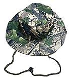 Sombrero de Pescador Camuflaje Plegable, Gorro de Sol para Aire Libre Caza Viaje Pesca, Sombrero de Militar de Algodón para Climb Camping (SFM-1-2)