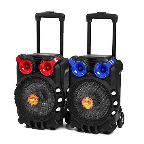OverTop Carro Bluetooth Audio Altavoz Luz Canto TFT Pantalla USB TF BT Karaoke KTV Sistema