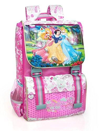 Disney Prinzessin 10624 Kinder Rucksack, Schulrucksack, Polyester, 40 Centimeters, Mehrfarbig, Cinderella, Aurora, Schneewittchen