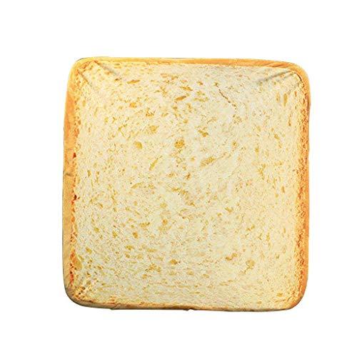 TWDYC Plüschtier-Kreative Toast Brot-Scheibe-Art-Haustier-Matten-Kissen weich warme Matratze Bett for Hunde Katzen (Size : 40 * 40cm)