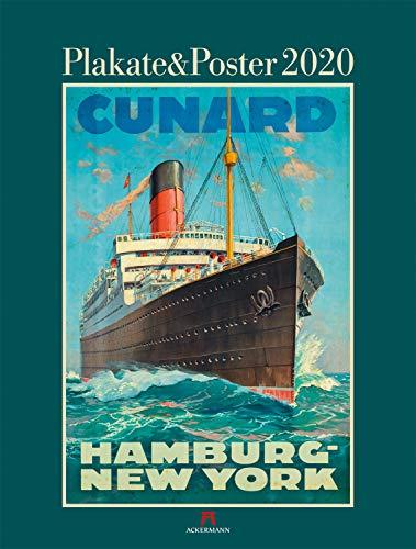 Plakate & Poster 2020, Wandkalender mit Werbeplakaten im Hochformat (50x66 cm) - Kunstkalender (Plakatkunst) mit Monatskalendarium