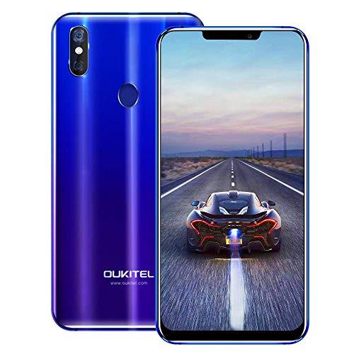 OUKITEL U23 4G Móviles y Smartphones Libres,6.18 Pulgadas con U-Notch (relación 19: 9),Android 8.1 Double SIM, MT6763T/P23 2.0 GHz, Octa-Core 6GB RAM 64GB ROM,Face ID
