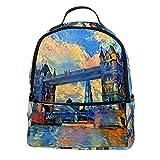 PLOKIJ Mochila para niños con pintura al óleo, diseño del puente de Londres, para niños y niñas de 2 a 6 años, 30 cm Color1 30