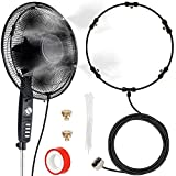 Fan Misting Kit, Outdoor Fan Misting Cooling System with 19.36FT (5.9M) Misting...