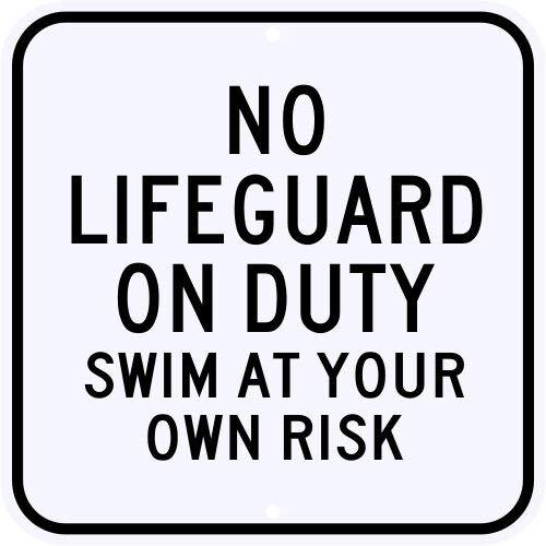 HNNT Señal de Metal de Grado Municipal con Texto en inglés Lifeguard ON Duty para Piscina, Playa, Lago, Grado Municipal, 30,5 x 30,5 cm