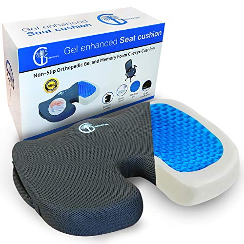 Seat Cushion for Office Chair - Gel Seat Cushion for Long Sitting - Car...