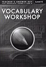 Vocabulary Workshop: Enriched Edition, Teacher's Answer Key Level C (Grade 8) Test Booklets: Form A and B