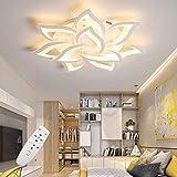 Lampada da soffitto a LED, dimmerabile, ideale per soggiorno, con telecomando per cambiare colore, dallo stile moderno e minimalista