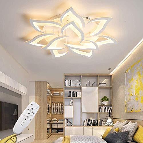 Moderne LED Deckenleuchte Dimmbar mit Fernbedienung, Wohnzimmerlampe Dimming Farbwechsel, Schlafzimmer Deckenlampe , Innenbeleuchtung Deckenbeleuchtung, 80 W, 4800 Lumen, Ø33.4in/85cm