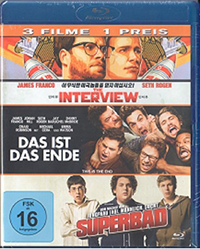 Das ist das Ende / The Interview / Superbad [Blu-ray] 3 Film Collection
