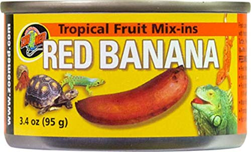 Zoo Med Tropical Fruit Mix-Ins Red Banana Nourriture pour Reptile/Amphibien 95 g
