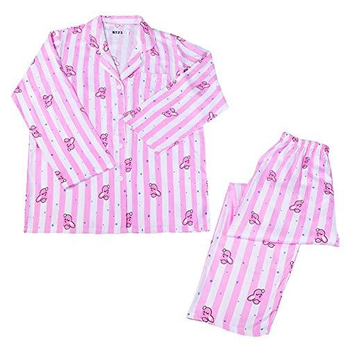 Desshok - Conjunto de pijama para mujer con camiseta de manga larga y pantalón...