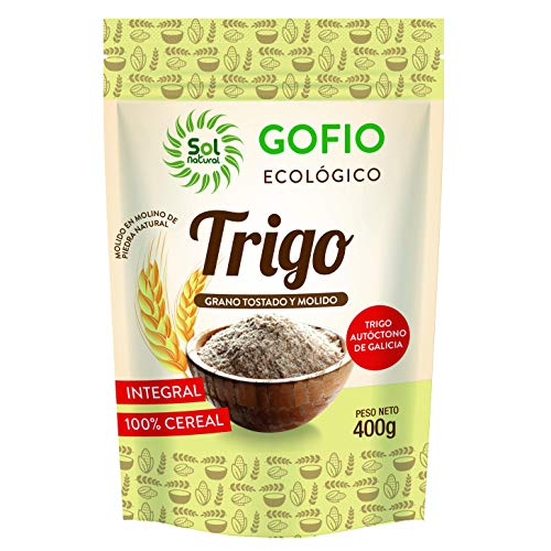 SOLNATURAL Gufo di Grano Integral Bio 400 g, Standard, Único