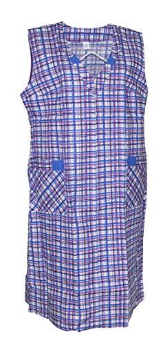 Reißverschluss RV Kittel Schürze Hauskleid Baumwolle, Größe:48, Modell:Modell 4