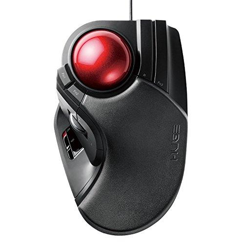 エレコム トラックボールマウス 有線 大玉 8ボタン チルト機能 ブラック M-HT1URBK