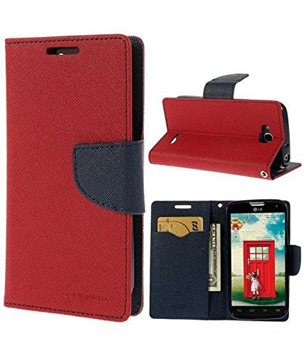 EPAQT™ Presents Mercury Goospery Fancy Diary Style Flip Cover with Magnetic Lock & 360* Protection Flip Cover Case for Samsung Galaxy Grand Neo/Grand Neo Plus/ i9082/ 9080 (Red)