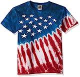 Liquid Blue unisex child Patriotic Stars & Stripes Short Sleeve T-shirt T Shirt, Tie/Dye, Large US