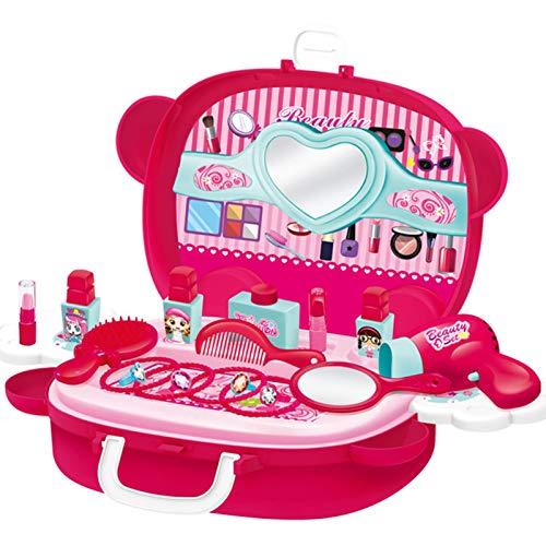 RION Juguete para niña Play House Niños Cosméticos Maleta Simulación Princesa Maquillaje Juguete Portable