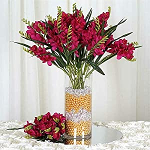 216 Artificial Freesia Flowers for Wedding Party Events Centerpiece Decoration noLG471