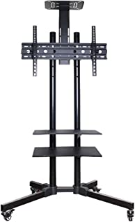TV Wall Mount, Monitor Rack Cart LCD TV Removable Stand Floor Standing Type Rotating Universal Shelf (for 32-75 Inches) TV...