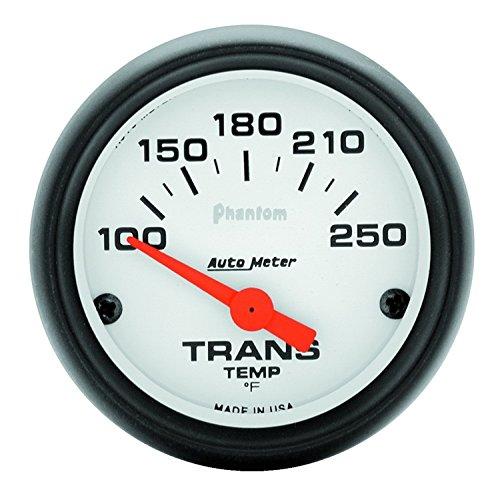 "Auto Meter 5757 Phantom Short Sweep Electric Transmission Temperature Gauge, 2-1/16"""