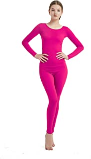 Womens Long Sleeve One Piece Jumpsuit Lycra Spandex Zentai Unitard
