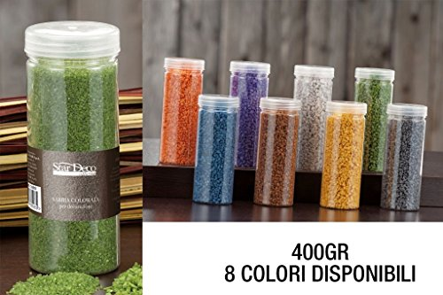 Star Arena para decoraciones, 400 g, 8 colores