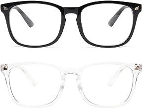 Livho 2 Pack Blue Light Blocking Glasses, Computer Reading/Gaming/TV/Phones Glasses for..