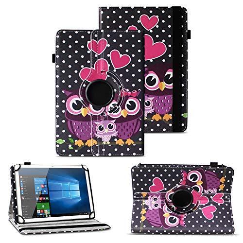 NAUC Schutzhülle kompatibel für Asus ZenPad 10 Z300M Z301ML Z301MFL Tablet Hülle Tasche Standfunktion 360° Drehbar aus Kunst-Leder Cover Universal Hülle, Farben:Motiv 4