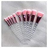 10 Pinceles de Maquillaje Set fundación Crema cosméticos Rubor Sombra de Ojos Mujeres Belleza Brillo Maquillaje Pincel Herramienta