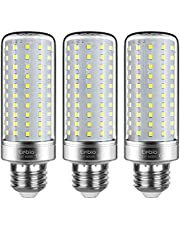 Tebio LED E14 E27 Corn Lampen 25W Kleine Middelste Edison Schroef Kaars Gloeilamp, 3000K 6000K Warm Wit Daglicht Wit 200W Incandescent Lampen Equivalent, Niet-Dimbare Candelabra Lichtlampen