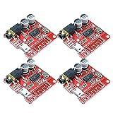 Dmyond 4PCS MP3 Bluetooth Decoder Board Lossless Mini Bluetooth 4.1 DIY Audio Amplifier Receiver Module Support WAV+APE+FLAC+MP3