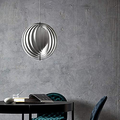 AMAFS Colgante, candelabro Luna giratoria, Colgante Circular Cámara LED Fuente de luz de Tres Colores Interruptor Libre E27 35 * 35CM Happy House